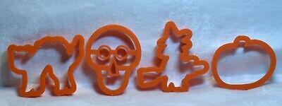 Ensar Vintage Petite Cookie Cutters - Witch Black Cat Skull Pumpkin Halloween