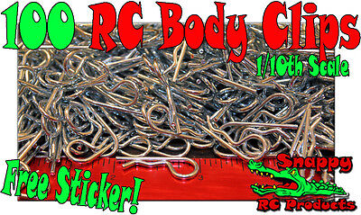 100 - 10th  Body Clips RC Traxxas HPI Losi OFNA Associated AXIAL Tamiya Kyosho