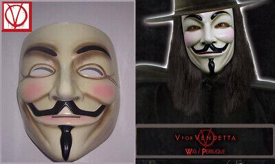 V For Vendetta Mask And Wig (V For Vendetta Mask and Wig Set Airbrushed Detailing Black Adult)