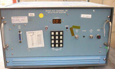 Matrix Test Equipment Afs-12wb Filter Selector