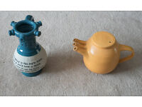 Puzzle Jug and Triple Spout Studio Teapot