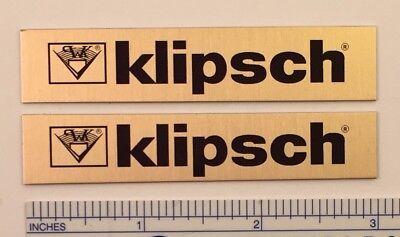 Klipsch Speaker Badge for vintage Heresy Chorus Cornwall