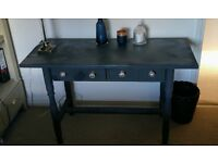 Dual purpose dressing room table and desk