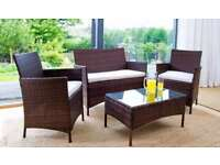 **FREE UK DELIVERY 1-3 DAYS** 4-Piece Rattan Garden Conservatory Furniture - 50% OFF!