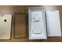 I phone 7 plus, Iphone7+, iphone7plus used A1 Condition with box charger h/free gold 128gb unlocked