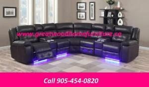 POWER SECTIONAL WITH LED LIGHTS...$2199...AIR LEATHER