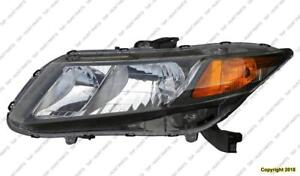 Head Lamp Driver Side Sedan/Coupe Honda Civic 2012
