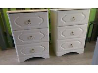 bedside drawers 2 x