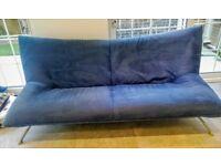 Stunning Sofa Set - 3 Piece Suite - Blue & Yellow - Alcantara