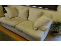 Sofa Bed Light Beige Very Good Condition