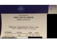 WWE LIVE IN LONDON - 1 ticket block 106 row B seat 176