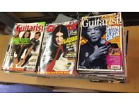 Bundle of 100+ Guitarist Magazines and Box of Guitarist CDs
