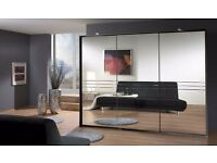 SUPERB HIGH QUALITY med 3 door sliding wardrobe available in lava colour