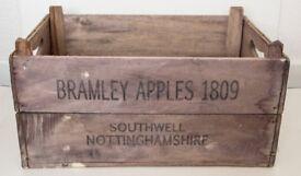 Bramley Apple Solid Wood Organiser Crate