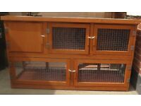 NEW 5FT TWO-TIER RABBIT HUTCH with RUN