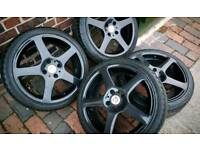 4x108 17 INCH ALLOY WHEELS - EXC TYRES - PEUGEOT, CITROEN, FORD