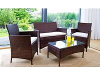 *FREE UK DELIVERY* OVER 40% OFF! 4-Piece Rattan Garden Conservatory Furniture -BRAND NEW!