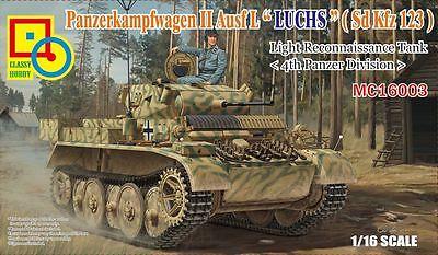 "CLASSY HOBBY MC16003 Pz.Kpfw. II Ausf.L ""Luchs"" (Sd.Kfz.123) 4.Pz.Div. in 1:16"