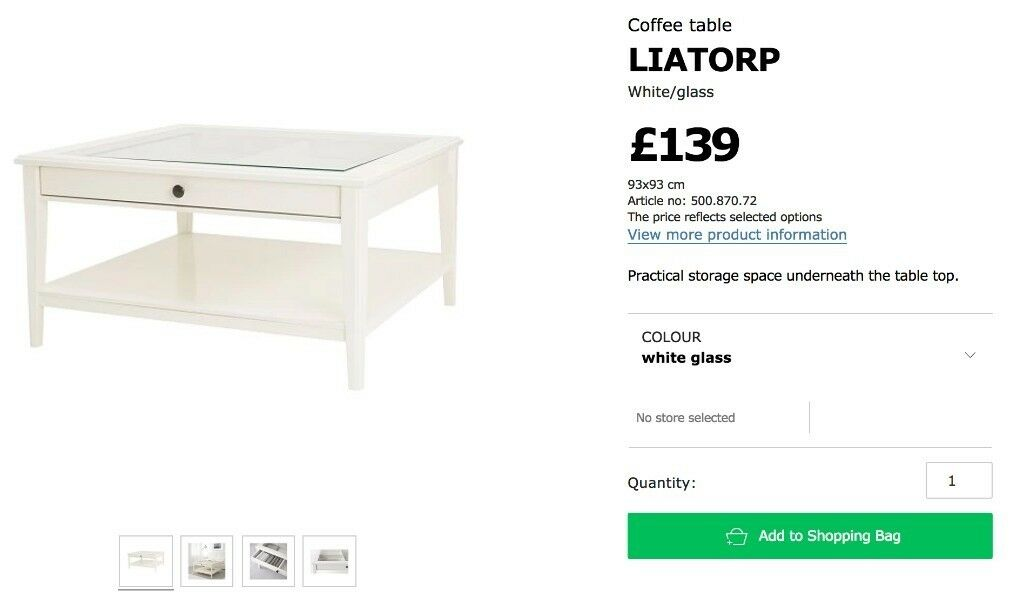 Ikea Liatorp White Coffee Table In Yate Bristol Gumtree