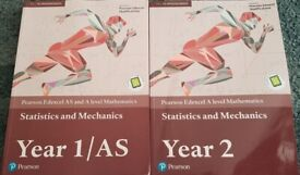 Edexcel AS and A level Mathematics Statistics & Mechanics Year 1 & 2 books