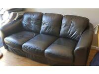Black leather sofa - free