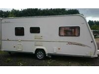 2006 Bailey vermont 2 berth light weight with large end wash room and fitted motormover