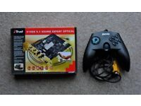 TRUST SOUNDCARD 514DX 5.1 SURROUND WITH OPTICAL. BOXED AND UNUSED. GAME CONTROLLER INCLUDED.