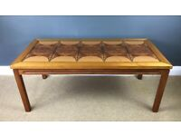 Mid Century Danish Tiled Top Teak Coffee Table