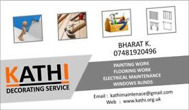 Painting Flooring Doors Windows Kitchen Fitting Carpentry Driveways or any other internal work