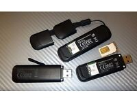 three mobile broadband USB dongles. microSD slots, all fully working. pick up from Portswood