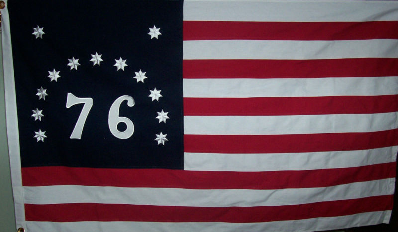 HEAVY DUTY SEWN OUTDOOR  BENNINGTON 76 FLAG - TEA PARTY - 600D POLYESTER