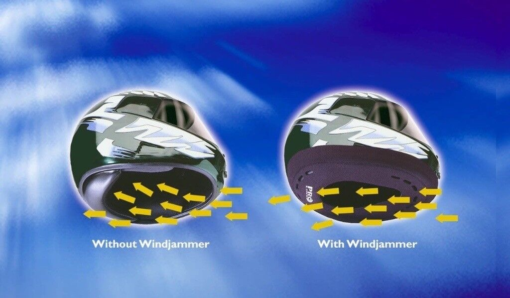 Pro Line Windjammer II for Motorcycle Helmets - reduces draughts and noise. NEW, UNUSED.