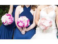 Wedding: Bride & Bridesmaids Bouquets - Hand Made