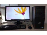 Fujitsu i5 Quad Core 8gb ram 1000gb HD Windows 10 PC - SCHOOL OFFICE ROBLOX gaming + FREE DELIVERY +