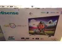 """Hisense 49"""" 4K Smart TV LED With Freeview"""