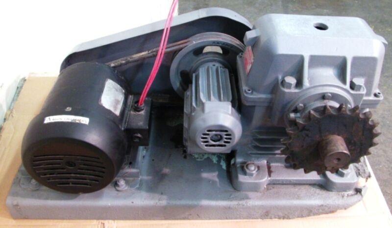 LINK BELT GEAR SPEED REDUCER DWB600-71, 625 RATIO, W/ALLIS CHALMERS MOTOR RGZ