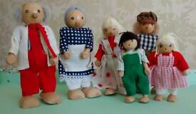 Wooden posable doll family. Early Learning Centre