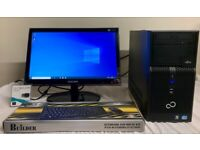 FUJITSU I3 Small Computer Desktop PC & Samsung Syncmaster 20 LCD Widescreen