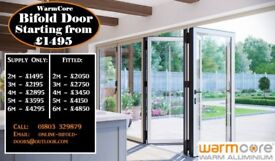 Warmcore Aluminium bi folding doors AT Trade prices covering the South of England