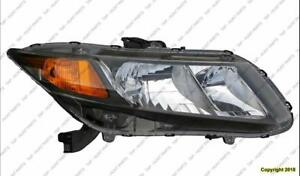 Head Lamp Passenger Side Sedan/Coupe Honda Civic 2012