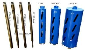 "Diamond Core Drill Bit 10"" Long"