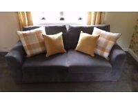 Gorgeous Freya sofa, Immaculate Condition, Charcoal Grey