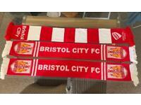 Bristol city scarves