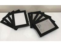 *As New* Ikea NYTTJA Black 5x7 Photo Frames x9