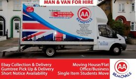 AA REMOVALS MAN AND VAN HIRE Short Notice | Moving House/Flat/Office/Business/Students Move UK&EU