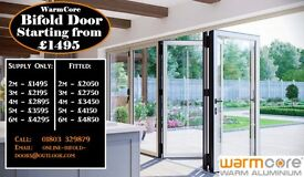 Warmcore Aluminium Bi folding doors supplied at Trade prices covering London,Birmingham,South west