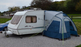 Swift Charisma 560/4 (2002) 4-berth caravan with Porch Awning and accessories