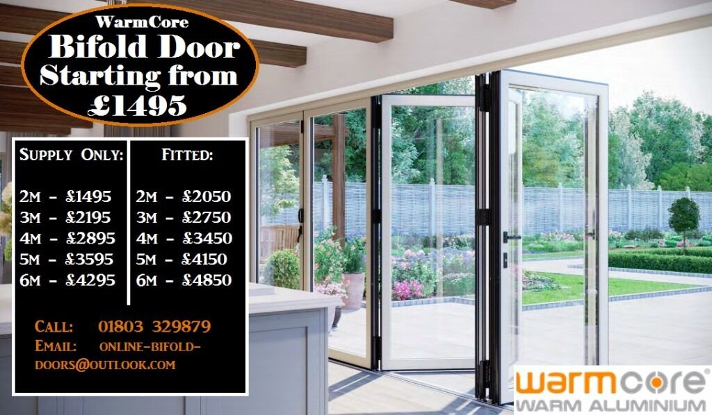 New Warmcore Aluminium Bi folding doors any size delivered to most ...