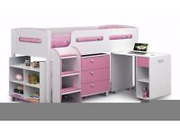 Julian Bowen pink and white cabin bed