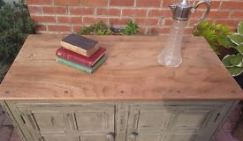 Ercol sideboard/cupboard restored and upcy led shabby chic style